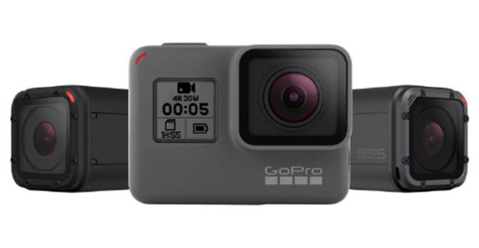 GoPro's all-new HERO5 line of cameras. (PRNewsFoto/GoPro)